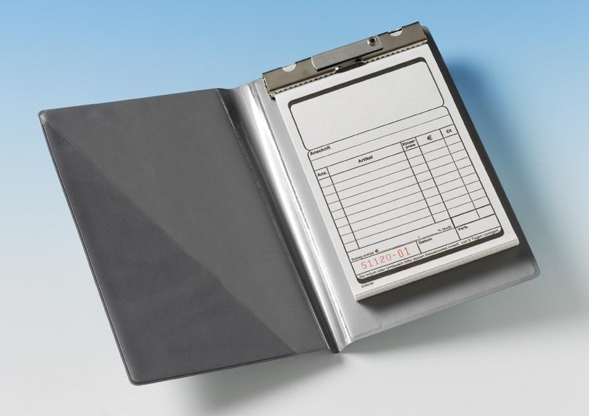 2 Blockmappen für Kassenblöcke - grau