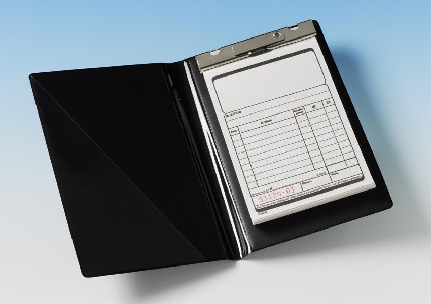 1 Blockmappe für Kassenblöcke - schwarz