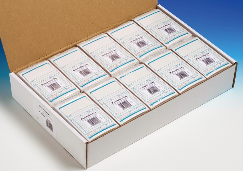 schwarz 2 Blockmappen für Kassenblöcke